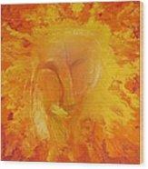 Fiery Love Wood Print