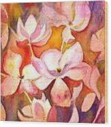 Fiery Magnolias Wood Print
