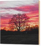 Fiery Oak 2 Wood Print