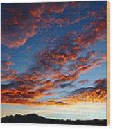 Fiery Skies Wood Print