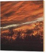 Fiery Sky Wood Print