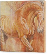 Fiery Spirit Wood Print