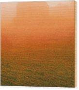 Fiery Sunrise On The Farm Wood Print