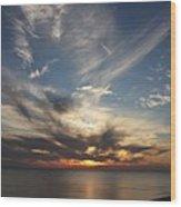 Fiery Sunset Skys Wood Print