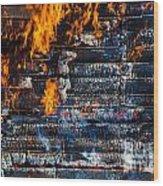 Fiery Transformation Wood Print