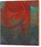 Fiery Whirlwind Onset Wood Print