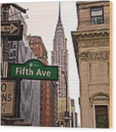 Fifth Ave. Wood Print