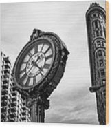 Fifth Avenue Building Clock Wood Print