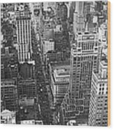 Fifth Avenue In New York City. Wood Print
