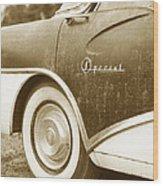 Fifties Buick Wood Print