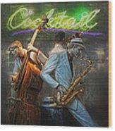 Fifties Cocktail Jazz Wood Print