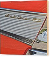 Fifty Seven Chevy Bel Air Wood Print