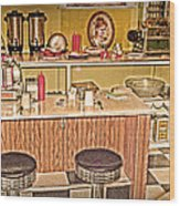Fifty's Lunch Counter  Nostalgic Wood Print