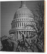 Fight In Washington Wood Print