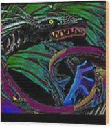 Fight The Dragon Wood Print