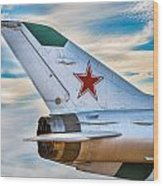 Fighter Jet Wood Print