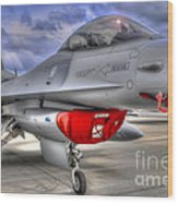 Fighting Falcon Wood Print