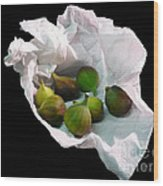 Figs In A Napkin Wood Print