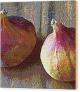 Figs Still Life Pop Art Wood Print