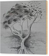 Figtree The Strength Wood Print