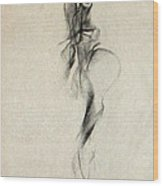 Figurative Gesture Drawing Wood Print by John Arthur Ligda