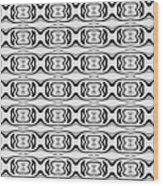 Figure 8 Black And White Pattern Wood Print