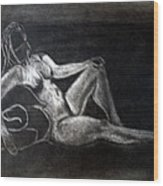 Figure Drawing Wood Print by Corina Bishop