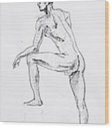 Figure Drawing Study II Wood Print