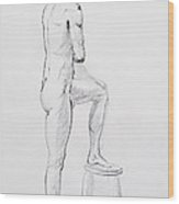 Figure Drawing Study Iv Wood Print