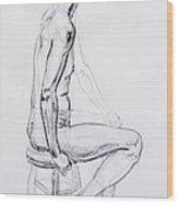 Figure Drawing Study V Wood Print
