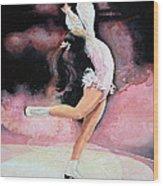 Figure Skater 20 Wood Print by Hanne Lore Koehler