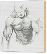 Figure Sketched Wood Print