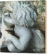 Figurine In The Forrest 3 Wood Print