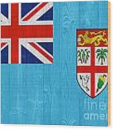 Fiji Flag Wood Print