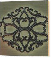 Filigree  Wood Print