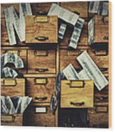 Filing System Wood Print