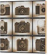 Film Camera Proofs 3 Wood Print by Mike McGlothlen