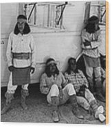 Film Homage Apache Extras The High Chaparral 1969 Old Tucson Arizona 1969-2008  Wood Print