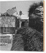 Film Homage Barbara Payton Bride Of The Gorilla 1951 Gorilla Pitchman Tucson Arizona July 4th 1991 Wood Print