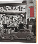 Film Homage Bela Lugosi Shadow Of Chinatown 1936 John Vachon Fsa Alamo Theater Washington D.c. 2010 Wood Print