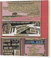 Film Homage Collage Drive-in Ads 1953 Tucson Arizona 2008 Wood Print