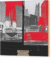 Film Homage Collage Fox Tucson Closed Last Bill  Original Ticket Stub 1984-1974-2012                 Wood Print