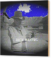 Film Homage Crime Does Not Pay Circa 1964 Dick Mayers Collage Screen Capture Circa 1964-2011 Wood Print