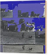 Film Homage Dirty Dingus Magee Collage Number 1 1970-2012 Mescal Arizona Wood Print