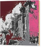 Film Homage D.w. Griffith Intolerance 1916 Fall Of Babylon 1916-2012  Wood Print by David Lee Guss