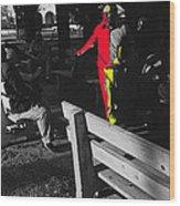 Film Homage Elmer Gantry 2 1960 Street Preacher Armory Park Tucson Arizona Wood Print