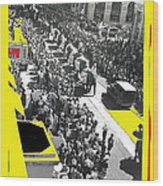 Film Homage Fox Tucson Theater Marquee Cole Bros. Circus Elephant Parade 1936-2008 Wood Print