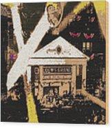 Film Homage Gone With The Wind Premiere Collage Loew's Grand Atlanta Georgia 1939-2008 Wood Print