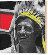 Film Homage Jean-paul Belmondo  Fake Indian Bonnet Love Is A Funny Thing  Old Tucson Az 1969-2008 Wood Print