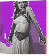 Film Homage Jean Rogers Dale Arden Flash Gordon Serial 1936 Publicity Photo Color Added 2008 Wood Print